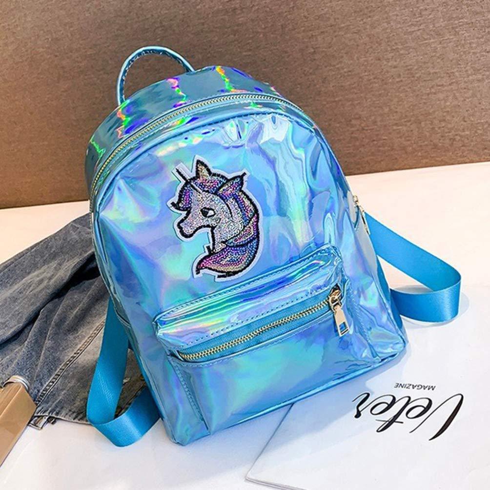 rose FENICAL sac /à dos holographique licorne brillant cartable cartable cartable cartable sac de voyage d/écontract/é pour femmes filles