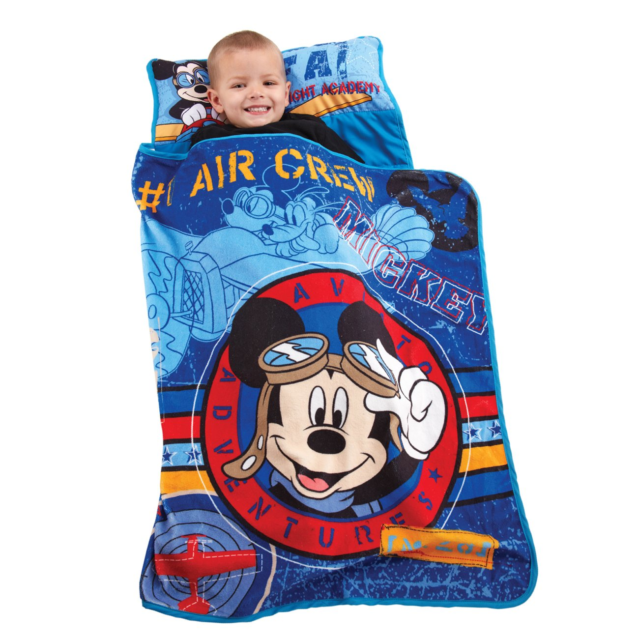 Disney Mickey's Toddler Rolled Nap Mat, Flight Academy