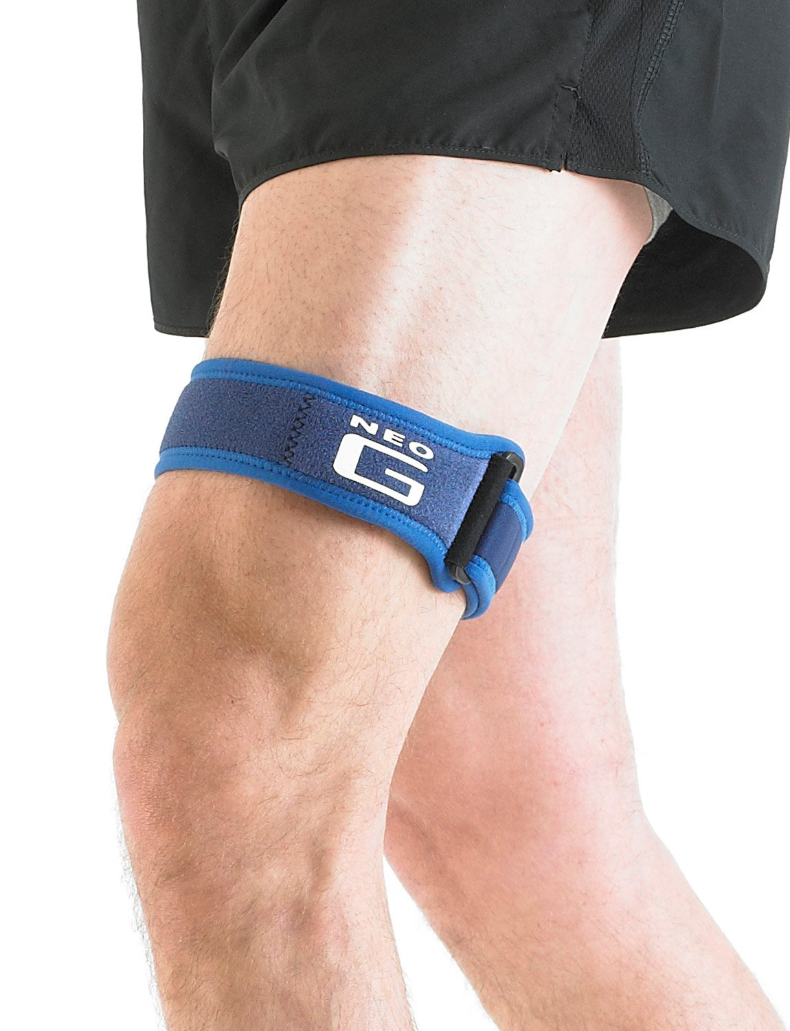 Neo G ITB Band - Knee Strap for Jumpers Knee, Tendonitis, Joint Pain, Tendon Overuse, Basketball, Running, Soccer, Tennis - Adjustable Compression Support - Class 1 Medical Device - One Size - Blue by Neo-G