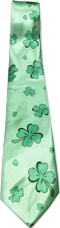 Irish Ireland St Patrick/'s Day Tie Souvenir Gift Four Leaf Clover Shamrock