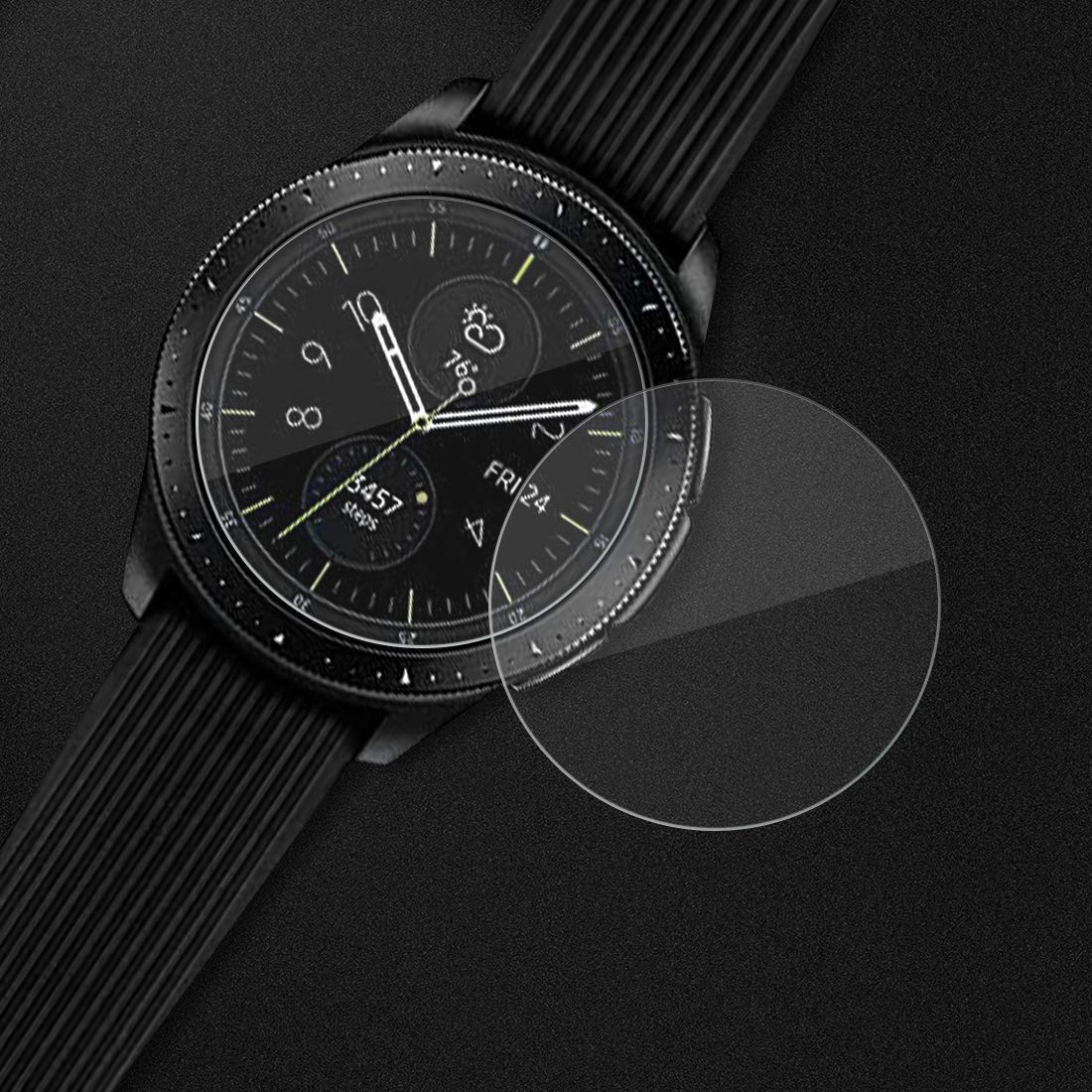 Samsung Galaxy Watch 42mm Screen Protector Avidet 9h Hardness Spigen Tempered Glass Gear S3 Classic Frontier Glastr Slim 2pack Premium For 3 Pack