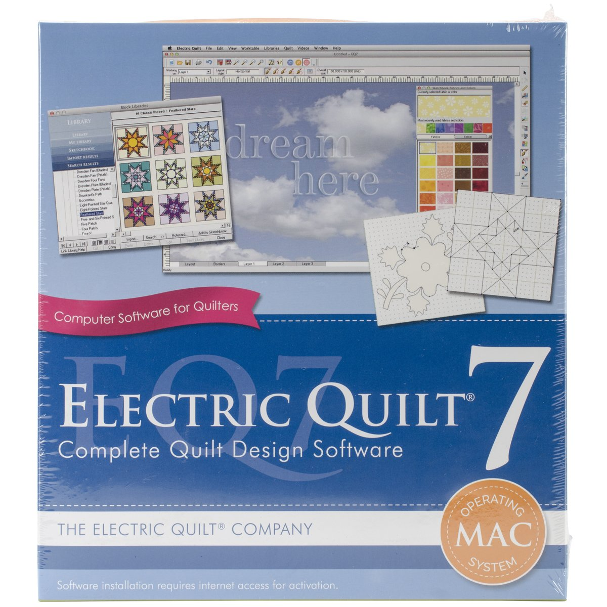 Electric Quilt Art and Craft 7 for Mac A-007MAC