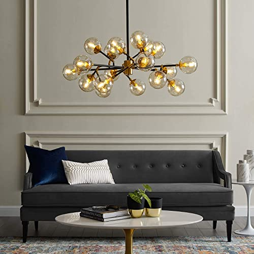 Modway EEI-2890 Sparkle Mid-Century Antique Brass Metal Ceiling Pendant Light