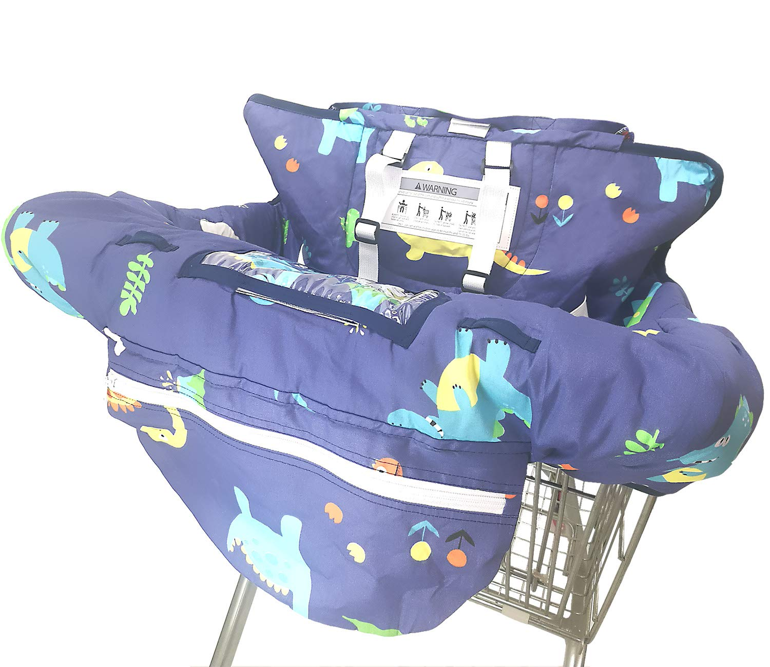 Universal Size Whale Protects Against Germs Soft Comfort Cushioning Easy Install Harness System Premium Shopping Cart Cover /& High Chair Cover