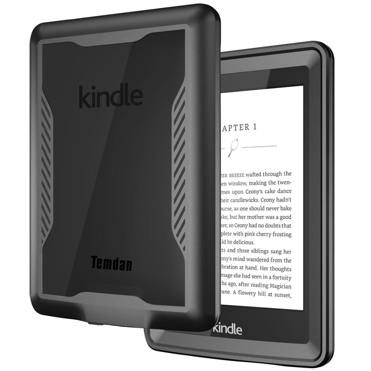 Temdan Kindle Paperwhite Waterproof Case Rugged Sleek Transparent Cover with Built in Screen Protector Waterproof Case for Kindle Paperwhite. by Temdan (Image #1)