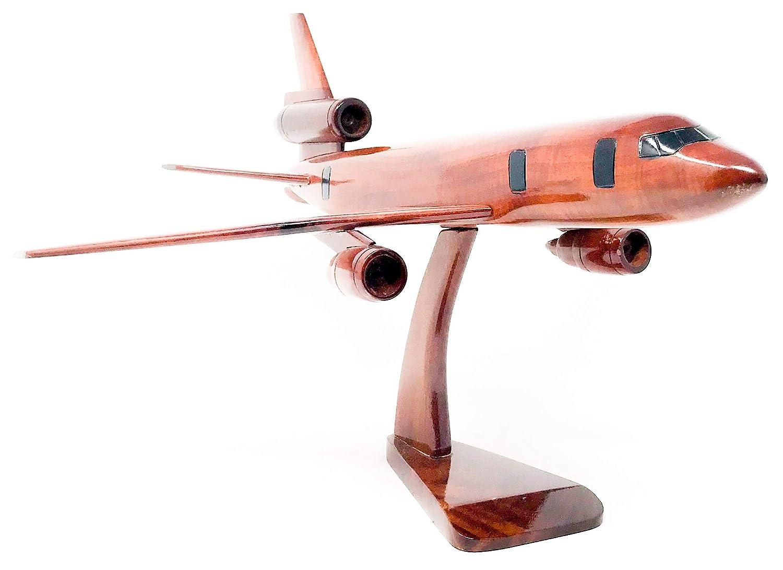 Wood art usa A340 Replica Flugzeug Modell Handgefertigt mit Echten Mahagoni Holz