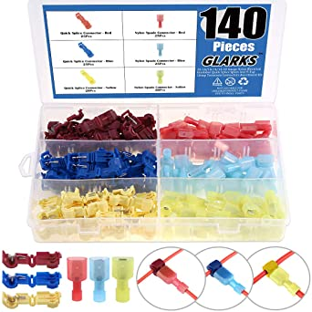 Female Spade Quick 180pcs 22-16 16-14 12-10 Gauge Nylon Fully Insulated Male