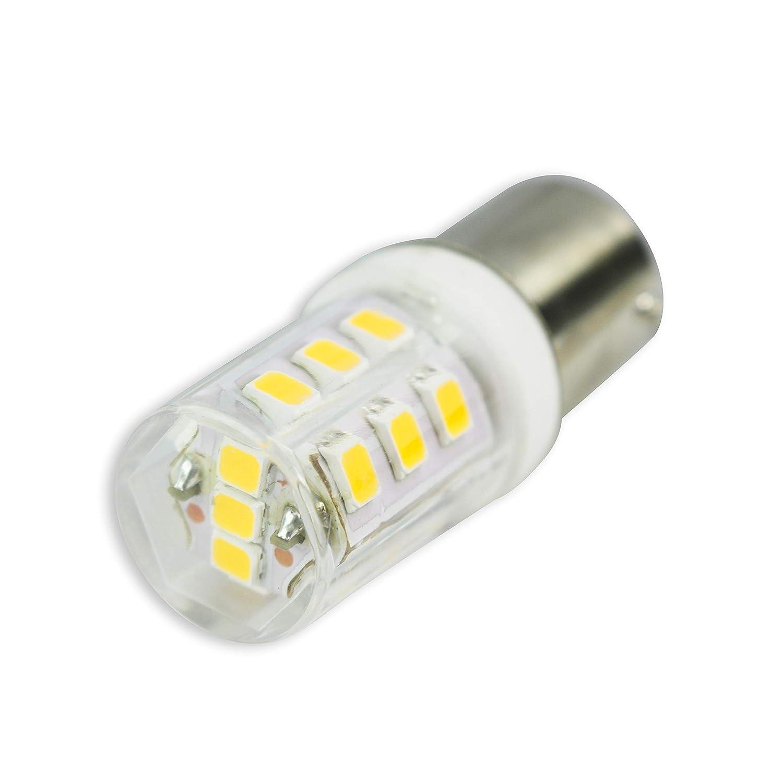 4-Pack 4000K Natural White Leisure LED 4-Pack RV LED Light Bulbs 270LM 1156 1141 1003 1073 BA15S 21 SMD LED Replacement Light Bulbs for RV Indoor Lights 10-30V