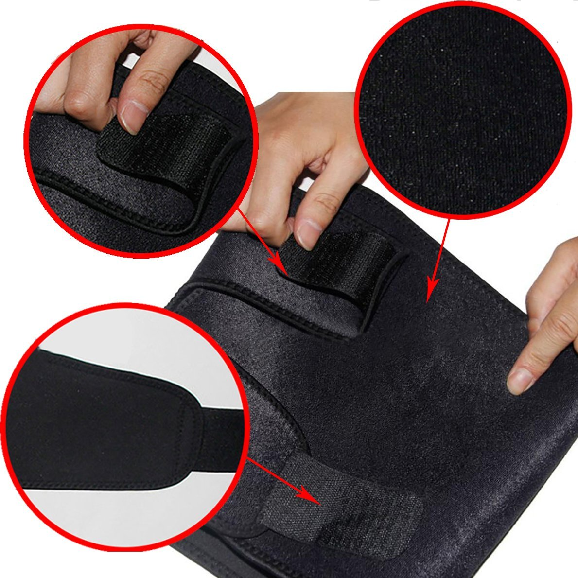 Enshey Thigh Compression Sleeve Support for Pulled Hamstring Strain Injury Tendonitis Rehab and Recovery Thigh Wrap Black Thigh Brace Fits Men and Women