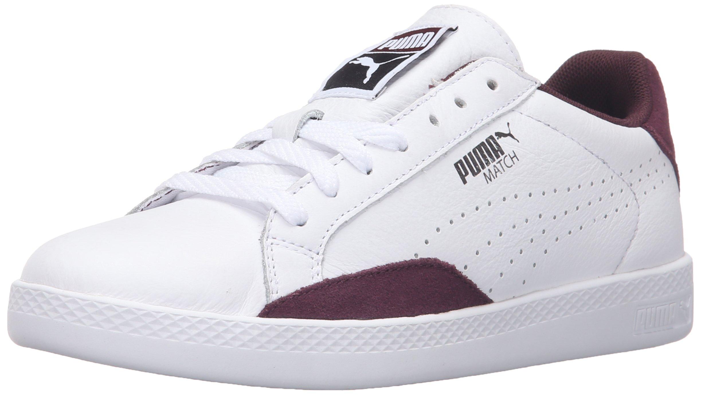 PUMA Women's Match LO Basic Sports WN's Tennis Shoe, White/Winetasting, 8.5 M US