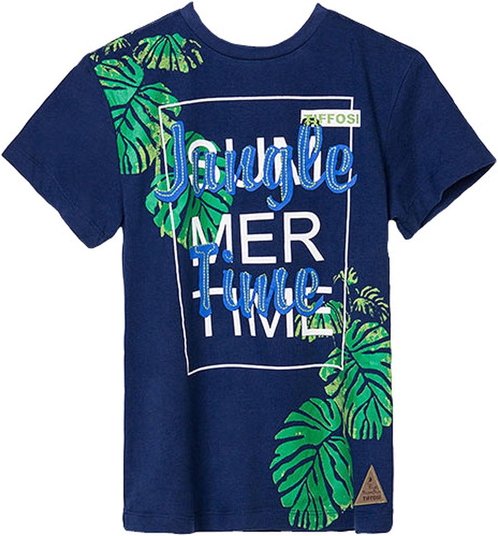 Tiffosi - Camiseta de manga corta - Cuello redondo - para niño azul marino 12 años: Amazon.es: Ropa y accesorios