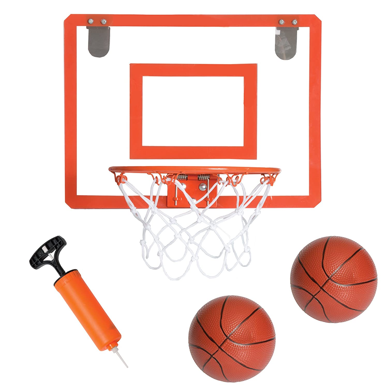 Play Platoon Mini Basketball Hoop for Door - 16 x 12 Inch Bedroom Basketball Hoop Indoors Set