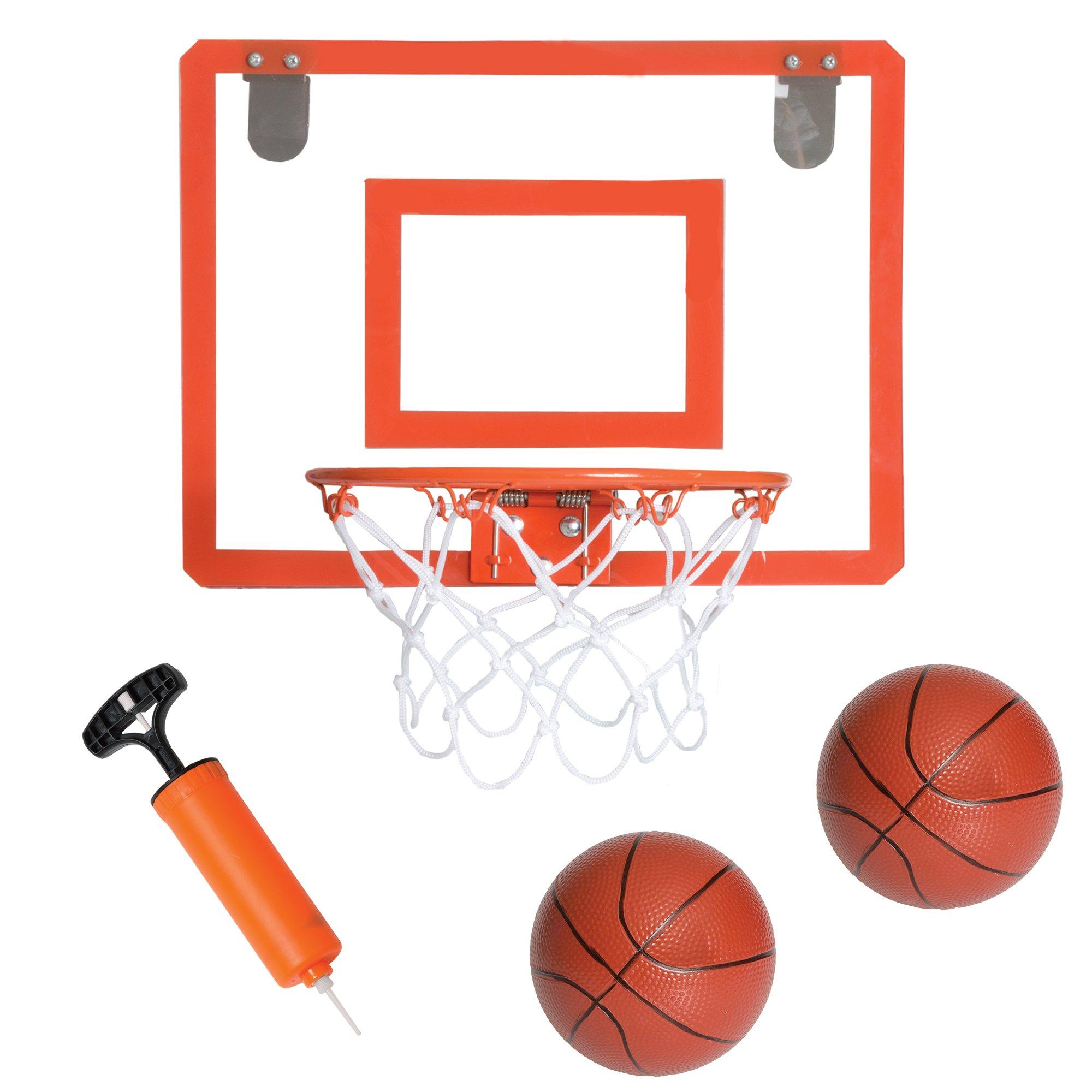 Play Platoon Mini Basketball Hoop for Door - 16 x 12 Inch Bedroom Basketball Hoop Indoors Set by Play Platoon (Image #1)