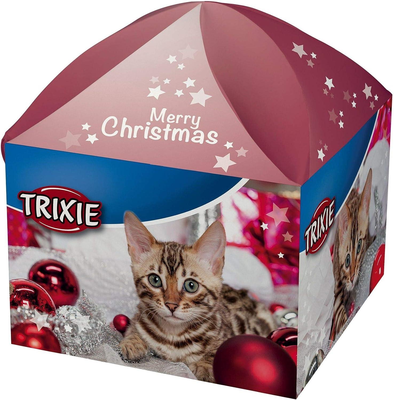 Trixie 9266 Cajita Navideña Regalo para Gatos, 5 Artículos