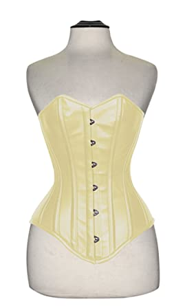 2b1b0aee0f Image Unavailable. Image not available for. Color  Design Custom Corsets  Overbust Authentic Corset Long Hip-Line Steel Boned Tight Lacing Leather  P99S