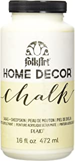 product image for FolkArt 34845 Home Decor Chalk Furniture & Craft Paint in Assorted Colors, 16 ounce, Sheepskin