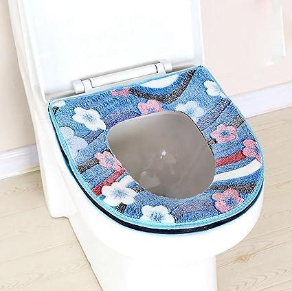 Longless Felpa wc cojín del asiento asiento de inodoro ...