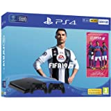 PS4 Console 500GB F ChassisSlim Black + Fifa 19 + 2 Dual Shock 4