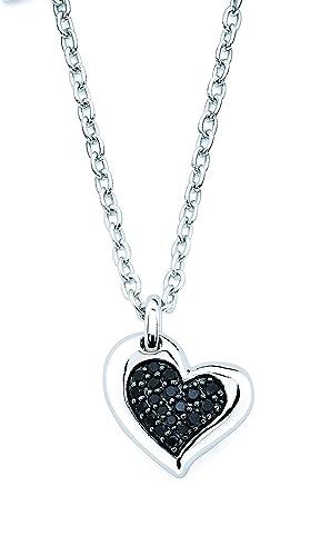 Lotopia Heart Pendant in Sterling Silver with Swarovski Zirconia