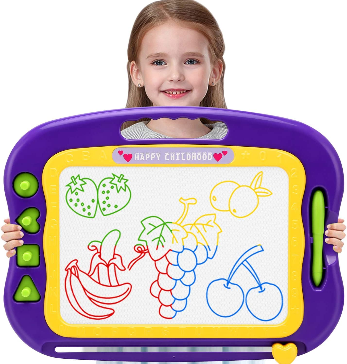 Wellchild Magnetic Drawing Board,Toddler Toys for Girls Boys 3 4 5 6 7 Year Old Gifts,Magnetic Doodle Board for Kids
