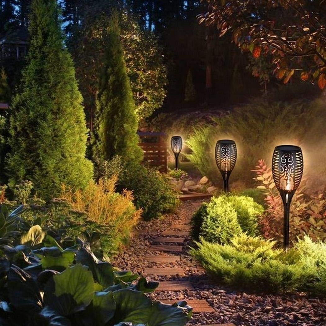 Pinsparkle Outdoor Lighting Solar LED Flame Lamp Garden Lawn Landscape Light Landscape Lighting & Accessories
