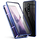 OnePlus 7 Pro Case, ZHIKE Magnetic Adsorption Case Front and Back Tempered Glass Full Screen Coverage One-Piece Design…