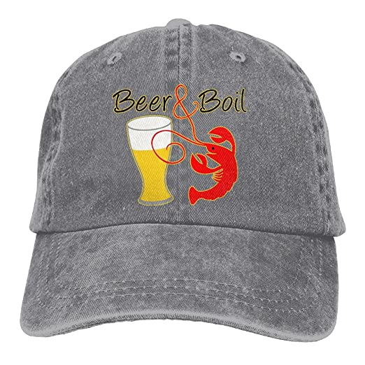 09454710d4a81f Crawfish Beer & Boil Cute Washed Cap Adjustable Baseball Cap Dad's Stetson  Hat at Amazon Men's Clothing store: