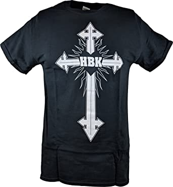 6fb3aa70c Shawn Michaels All Things are Possible HBK Cross Mens Black T-Shirt-S