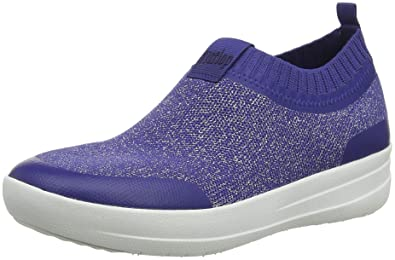 a920c123c FitFlop Women s Uberknit Sneakers-Metallic Slip on Trainers