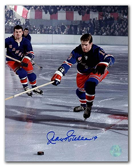 fb0724929 Image Unavailable. Image not available for. Color  Jean Ratelle New York  Rangers Autographed Autograph Original Six Hockey ...