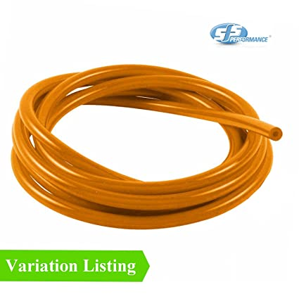 1 Metre Orange Silicone Vacuum Hose / Turbo Rubber Tube Air Water Pipe [ 4mm ]