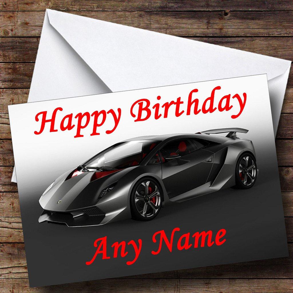 Personalised Lamborghini Sesto Elemento Concept Supercar Birthday