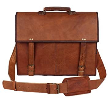 01907ef1f36a Image Unavailable. Image not available for. Color  Genuine Leather  Messenger Bag for Men - Computer Satchal by Rustic Town ...