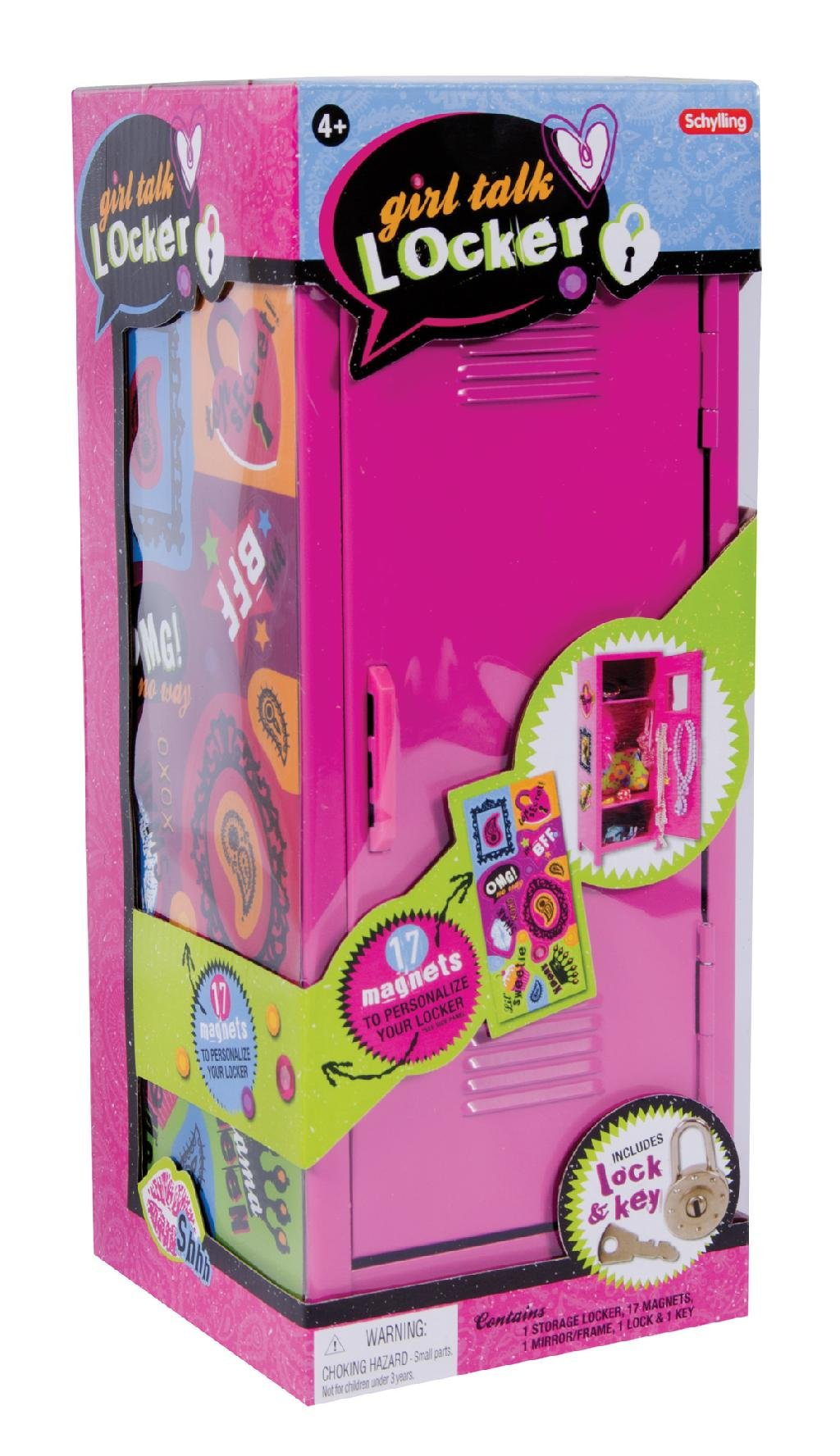 Schylling MLM Girl's Talk Locker, 11.25-inch by Schylling