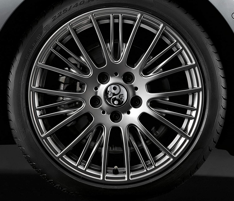 SkinoEu 4 x 60mm ABS Car Alloy Wheel Centre Universal Rims Hub Center Caps Auto Tuning Logo Emblem Silver Gloss Black Yin Yang Skull CX 11