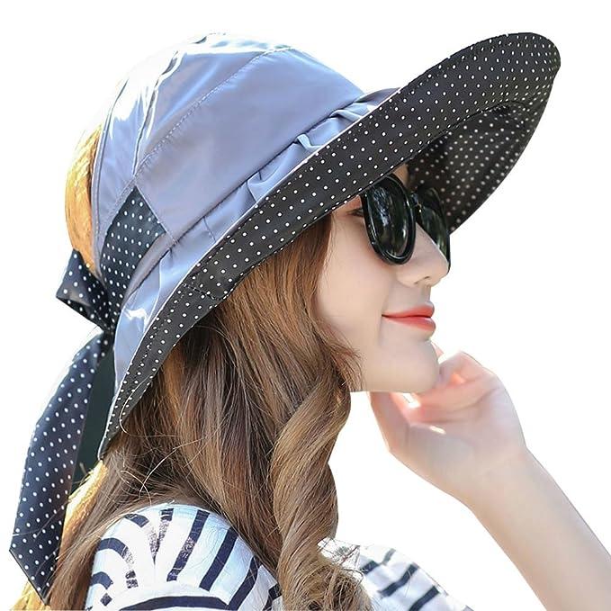 Mai Yi Women s Fashion Women Foldable Sun Hat Anti-UV Outdoor Beach Cap at  Amazon Women s Clothing store  505a8d88063