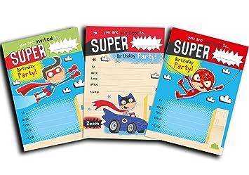 Premium Quality Superhero Invites