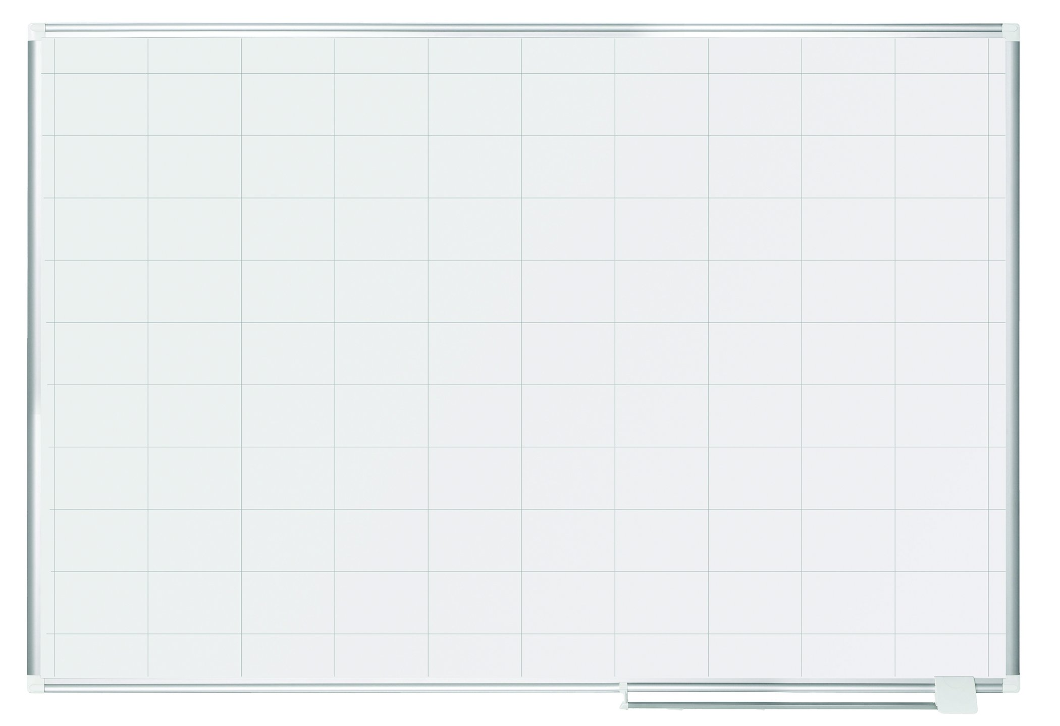 MasterVision Planning Board Dry Erase Magnetic,  2'' x 3'' Grid, 48'' x72'', Whiteboard with Aluminum Frame
