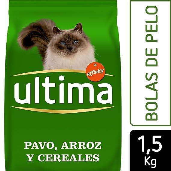 Ultima Pienso para Gatos Adultos para Prevenir Bolas de Belo, Sabor Pavo: Amazon.es: Alimentación y bebidas