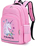 Kids Backpack Girls Elementary School Backpack Preschool Kindergarten BookBag with Chest clip