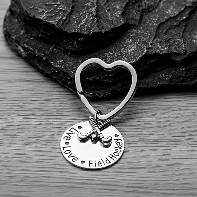 Infinity Collection Field Hockey Keychain, Girls Field Hockey Jewelry, Field Hockey Live Love Charm Keychain for Girl Field Hockey Players, Moms & ...