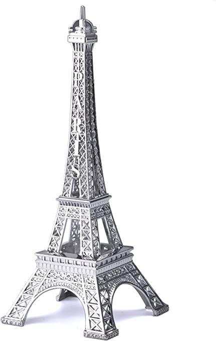 Amazon Com Joyfamily Eiffel Tower Decor 7inch 18cm Metal Paris Eiffel Tower Statue Figurine Replica Drawing Room Table Decor Jewelry Stand Holder For Cake Topper Gifts Party And Home Decoration Home Kitchen