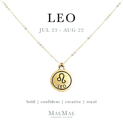 Amazoncom Maemae Leo Zodiac Pendant Necklace 14k Gold Filled