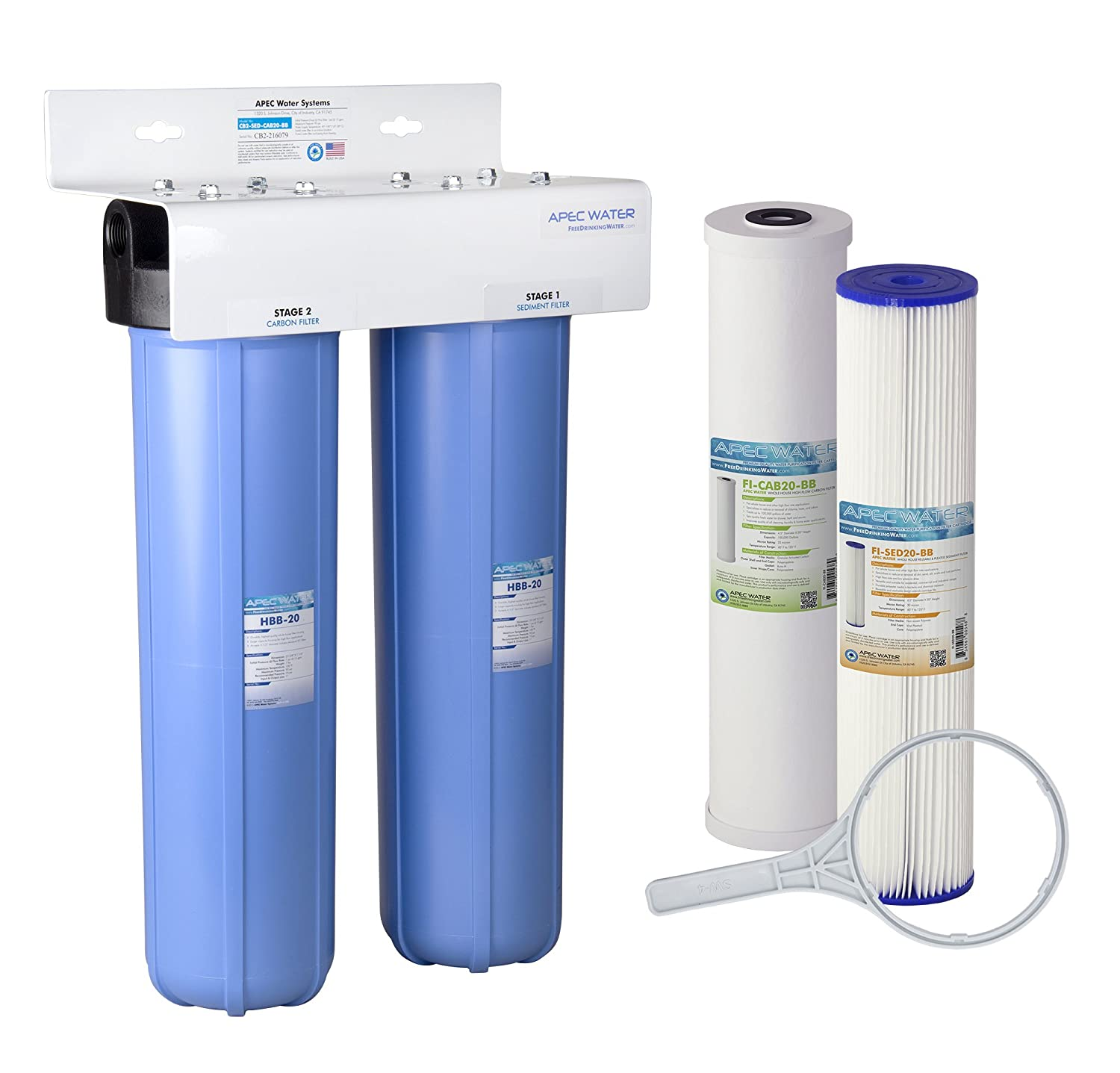 APEC 2-Stage Whole House Water Filter System with Sediment and ...