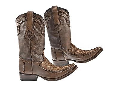0e8d2e38052 Cuadra Fashion Mens Boots Fango Honey - Python/cowhide Leather - Handmade -  Sizes From 7.5 to 11
