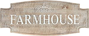DeliDecor Large Farmhouse Sign Rustic Carved Wood Wall Decor, Vintage Farmhouse Decor Wall Hanging Signs Decoration Funny Housewarming Gifts Wall Art, 23.6 x 9.5 inch