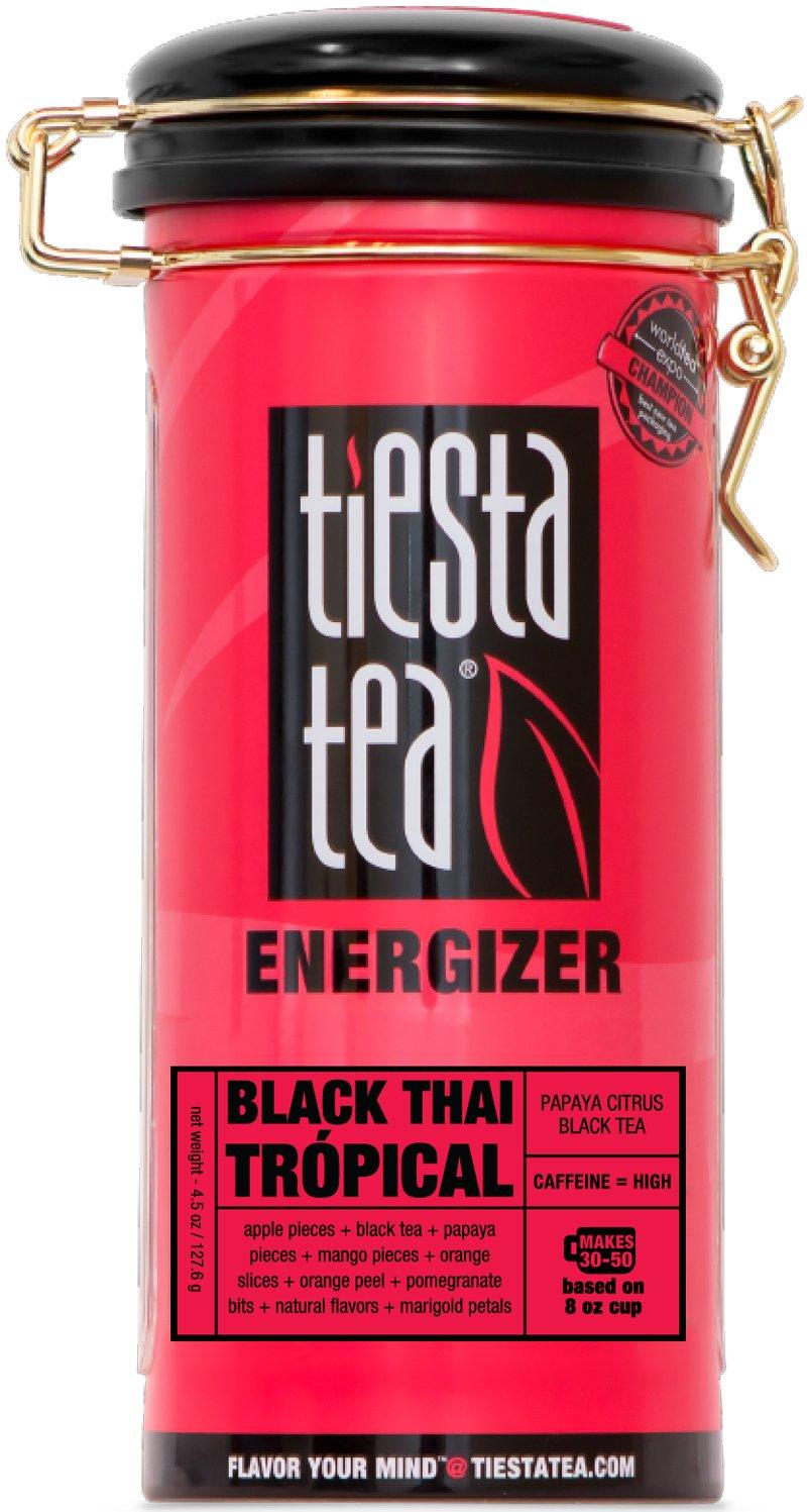 Papaya Citrus Black Tea | BLACK THAI TRÓPICAL 4.5 Ounce Tin by TIESTA TEA | High Caffeine | Loose Leaf Black Tea Energizer Blend by Tiesta Tea