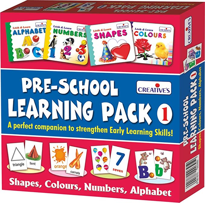 Creative Education Pre-School Learning, Pack 1 (Shapes, Colours, Numbers and Alphabet)-Best-Popular-Product