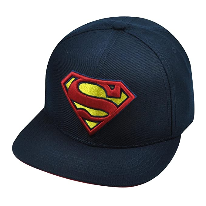 fb86eb0f65c69 Amazon.com  DC Comics Adult Superman Logo Flat Bill Snapback Cap ...