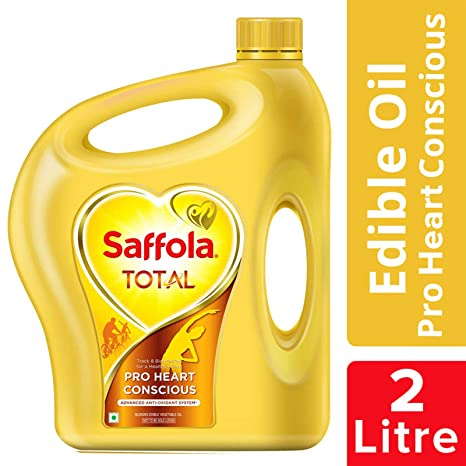 Saffola Total, Pro Heart Conscious Edible Oil, Jar, 2 L
